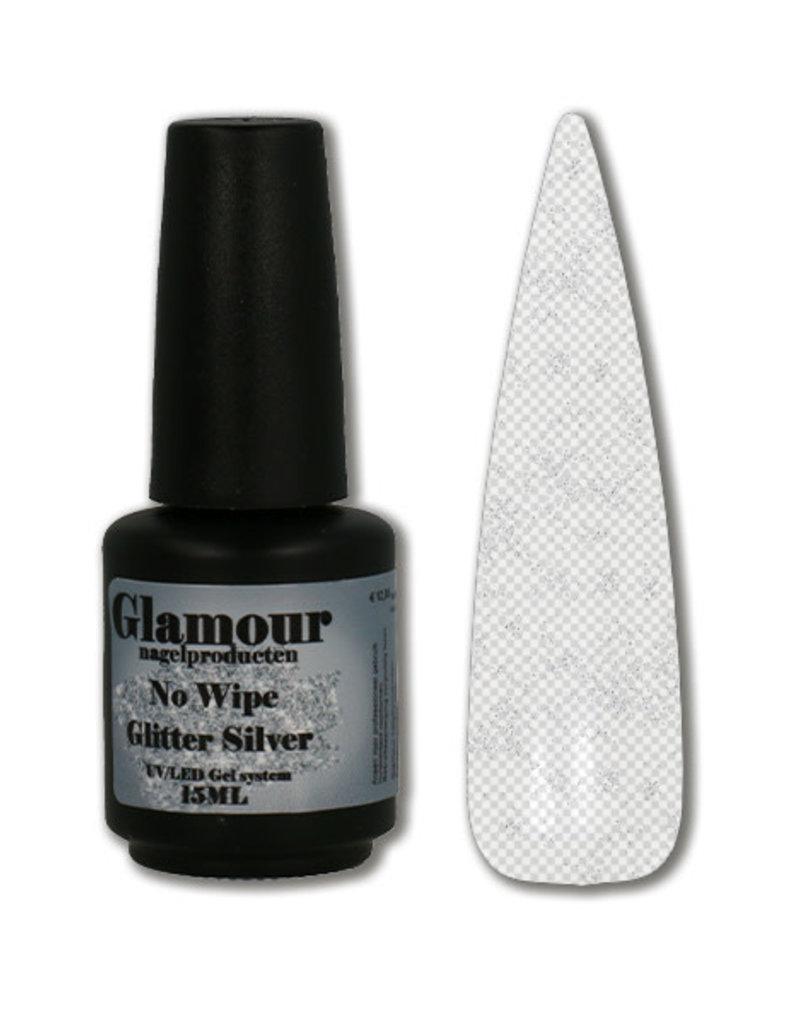 No Wipe Silver Glitter Top
