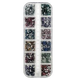 Nailart Box Teardrops Mix Colors