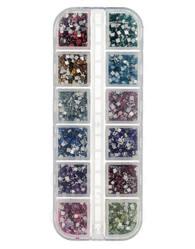 Nailart Box Square Mix Colors