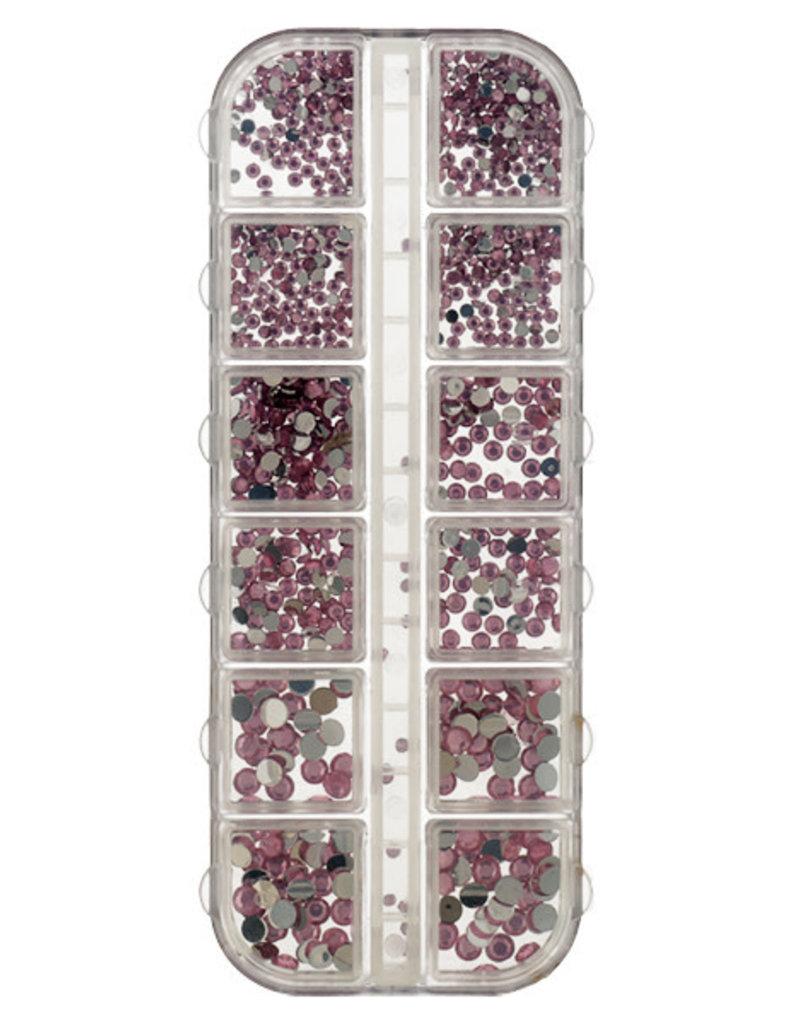Box Strass Rose 2-5mm