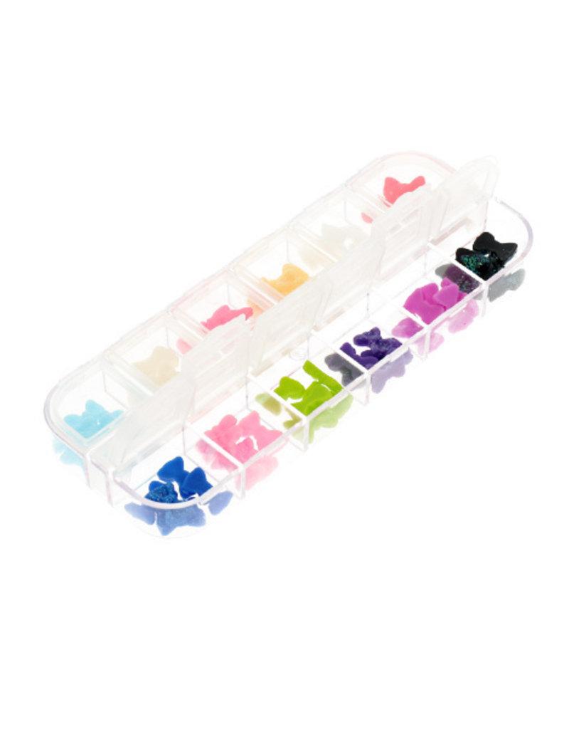 Box Glitter Bows Mixed Color