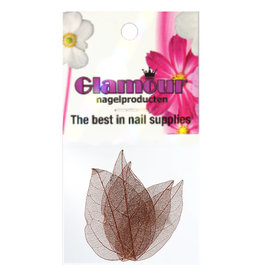 Nailart Leaf Brown