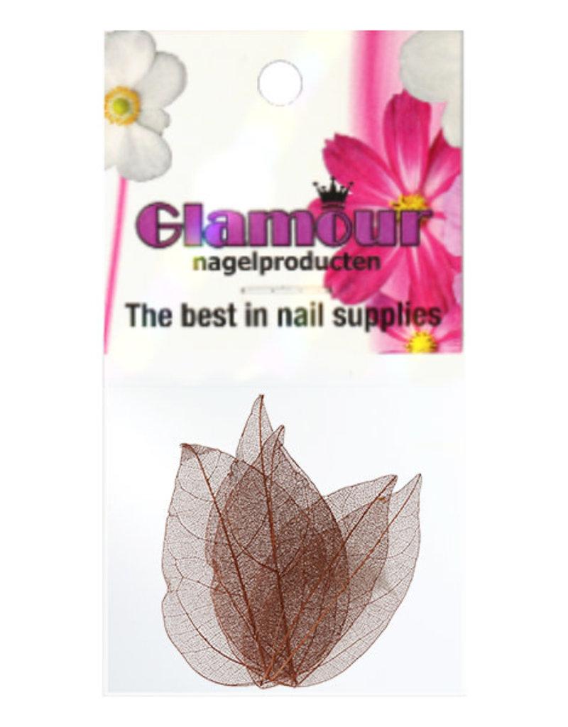Nailart Leaf Brown