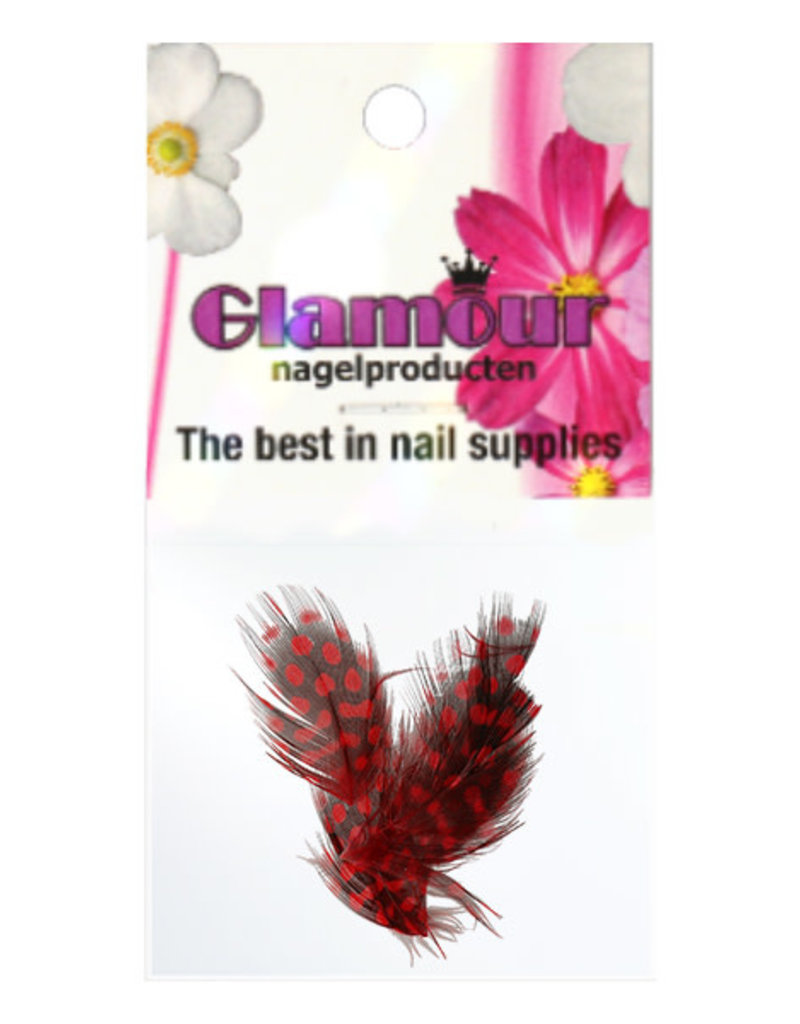 Nailart Feather Red