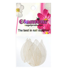 Nailart Leaf White
