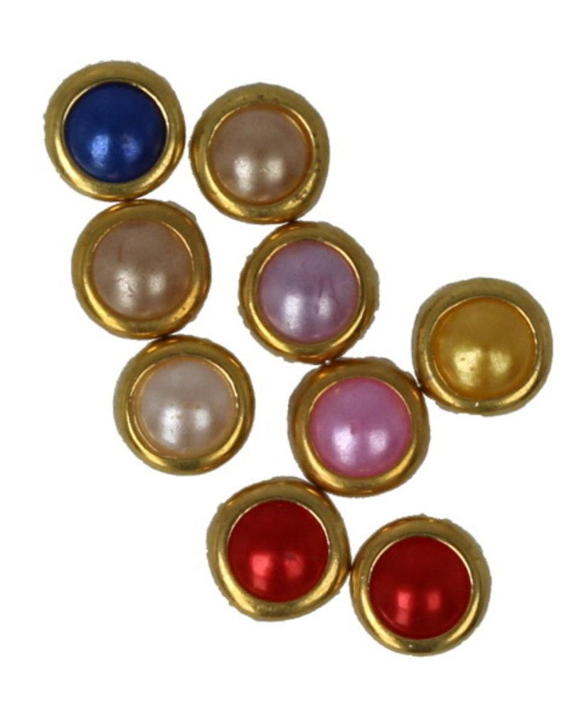 Multicolor Pearls Gold Edge