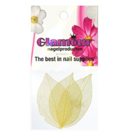 Nailart Leaf Yellow