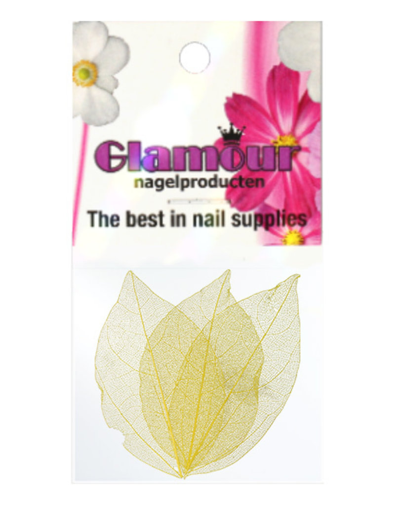 Nailart Leaf Yellow