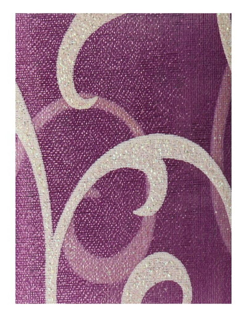 Nailart Lace Purple/Silver Motif