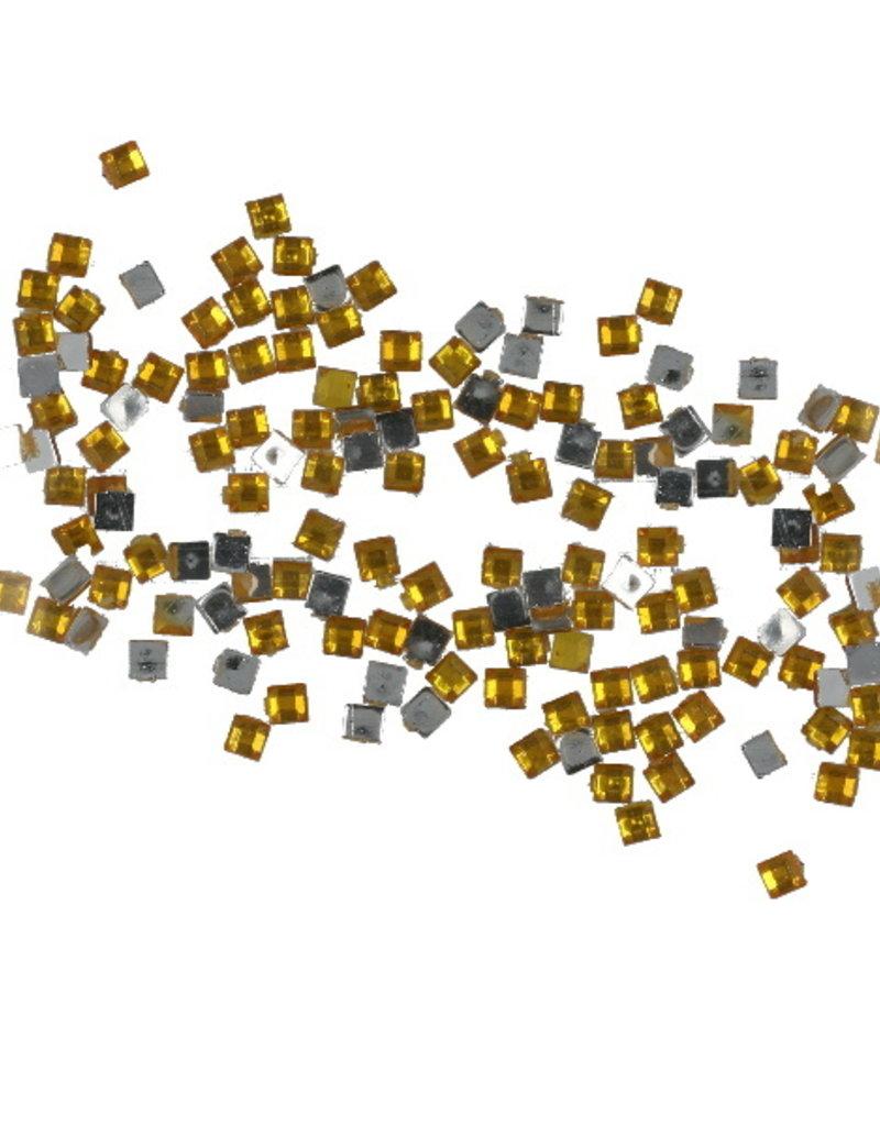 Strasssteentjes Vierkant Goud