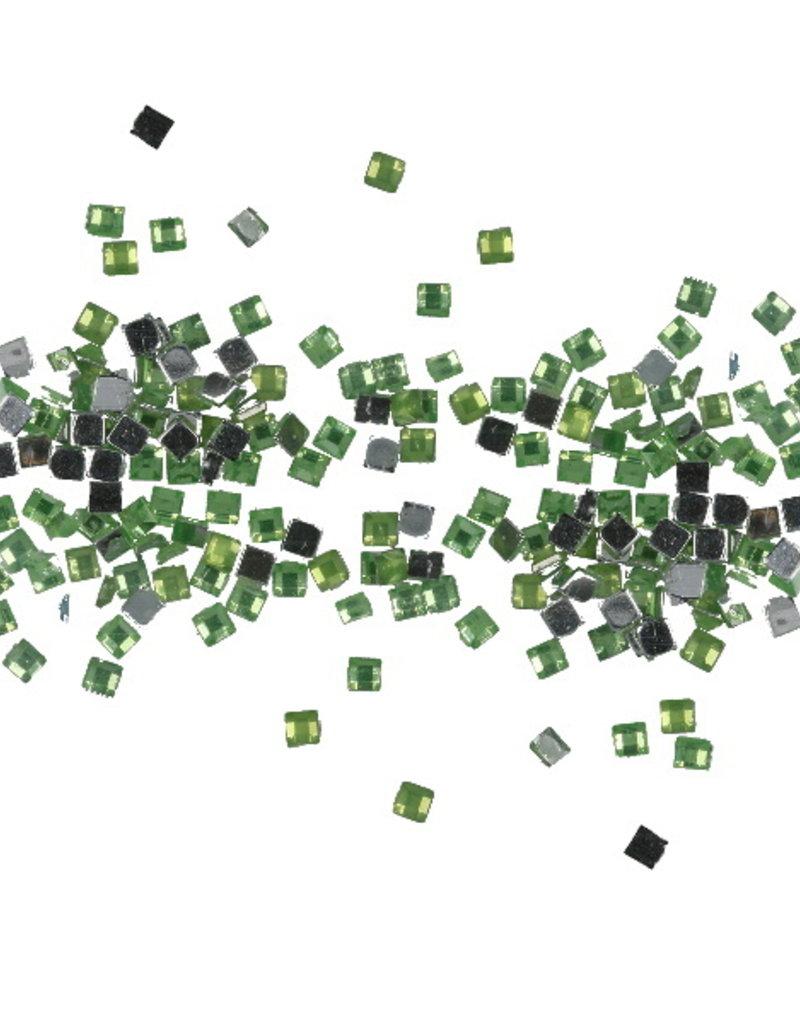 Strasssteentjes Vierkant Groen