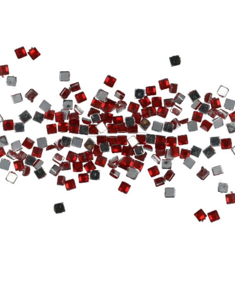 Strasssteentjes Vierkant Rood