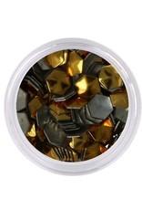 Metallic Studs Gold Hexagon