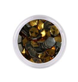 Metallic Studs Goud Zeshoek