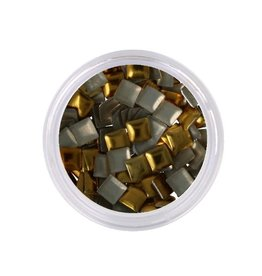 Metallic Studs Gold Square
