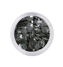 Metallic Studs Hexagon Silver