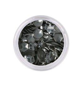 Metallic Studs Zeshoek Zilver