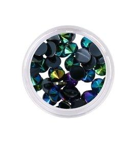 Dark Aurora Crystals Flatback 4mm