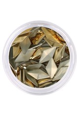 Metallic Studs Gold Diamond
