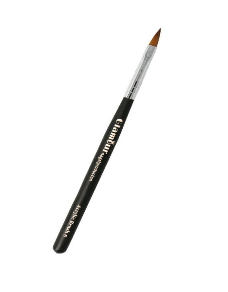 Acryl Brush NR 6 Zwart