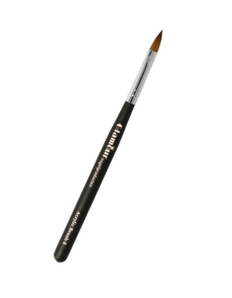 Acryl Brush NR 8 Zwart