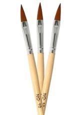 Acrylic Brush Oval Flat Wood NR 10