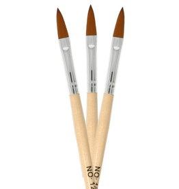 Acrylic Brush Oval Flat Wood NR 12