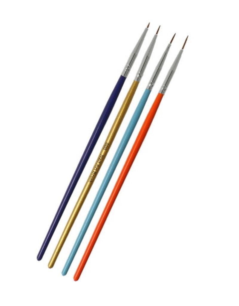 Brush Set Nailart Multicolor 4 pcs