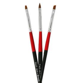 Nailart Brush Set Red