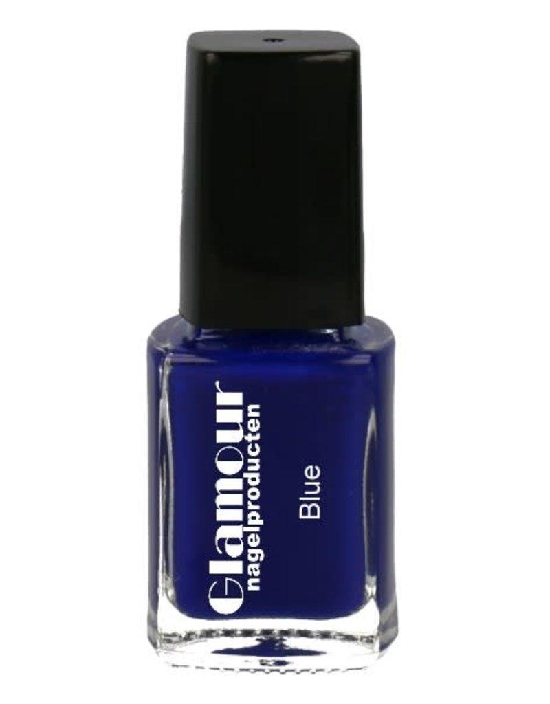Stamping Nailpolish Blue