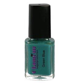 Stamping Nailpolish Green Blue