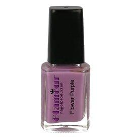 Stamping Nailpolish Flower Purple