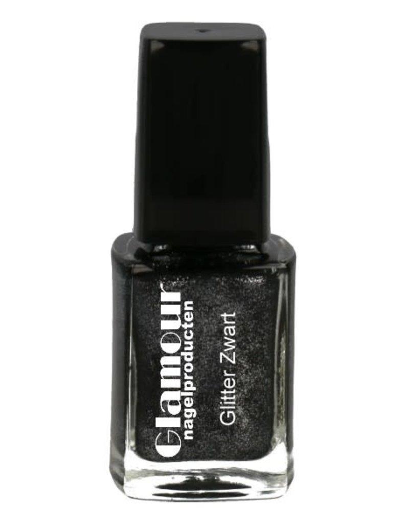 Stempellak Glitter Black