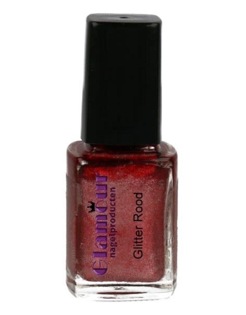 Stempellak Glitter Red
