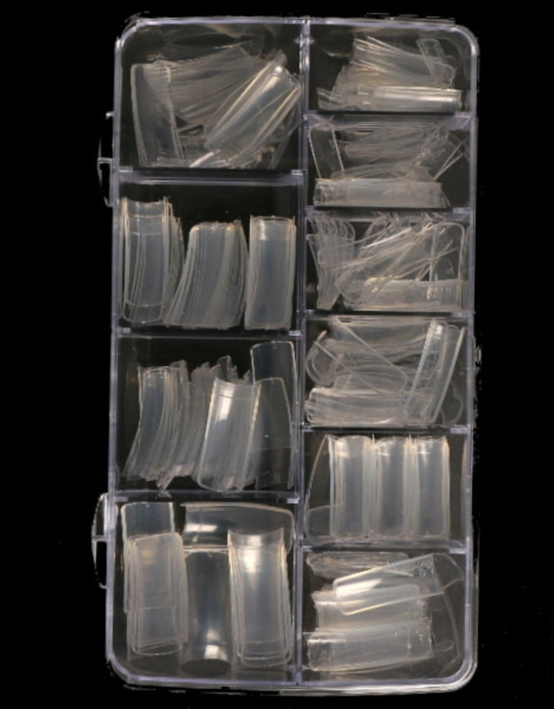 250 Tips French Clear Sorting Box