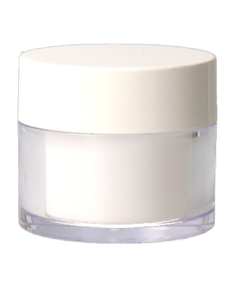 Transparant Potje Witte Dop 50ML