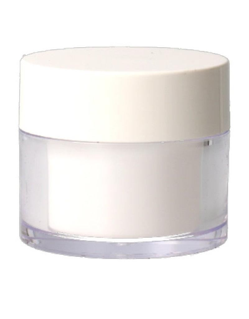 Transparent Jar White 50 ML