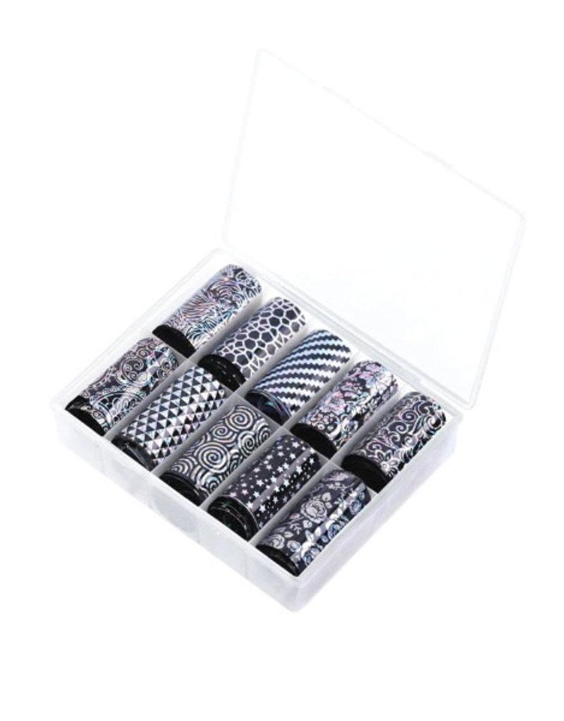 Transfer Foil Box Black & Silver