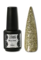 Gel On Heavy Glitter Gold