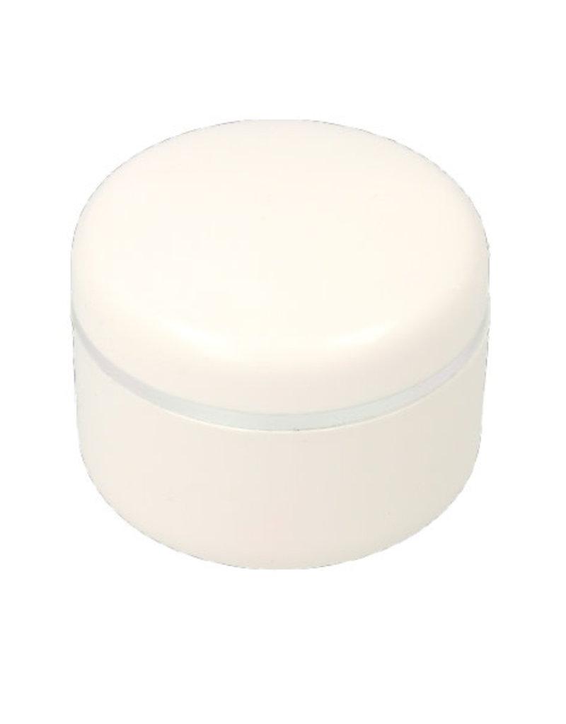 Empty Jar White Silver Edge 30ML