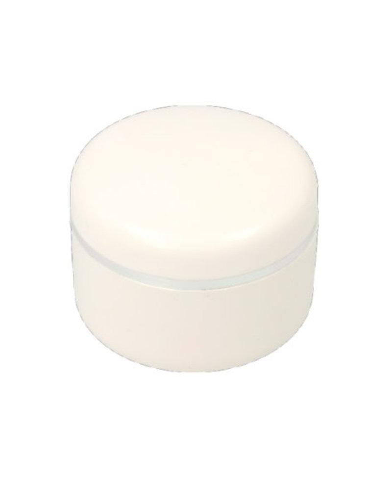 Empty Jar White Silver Edge 15ML