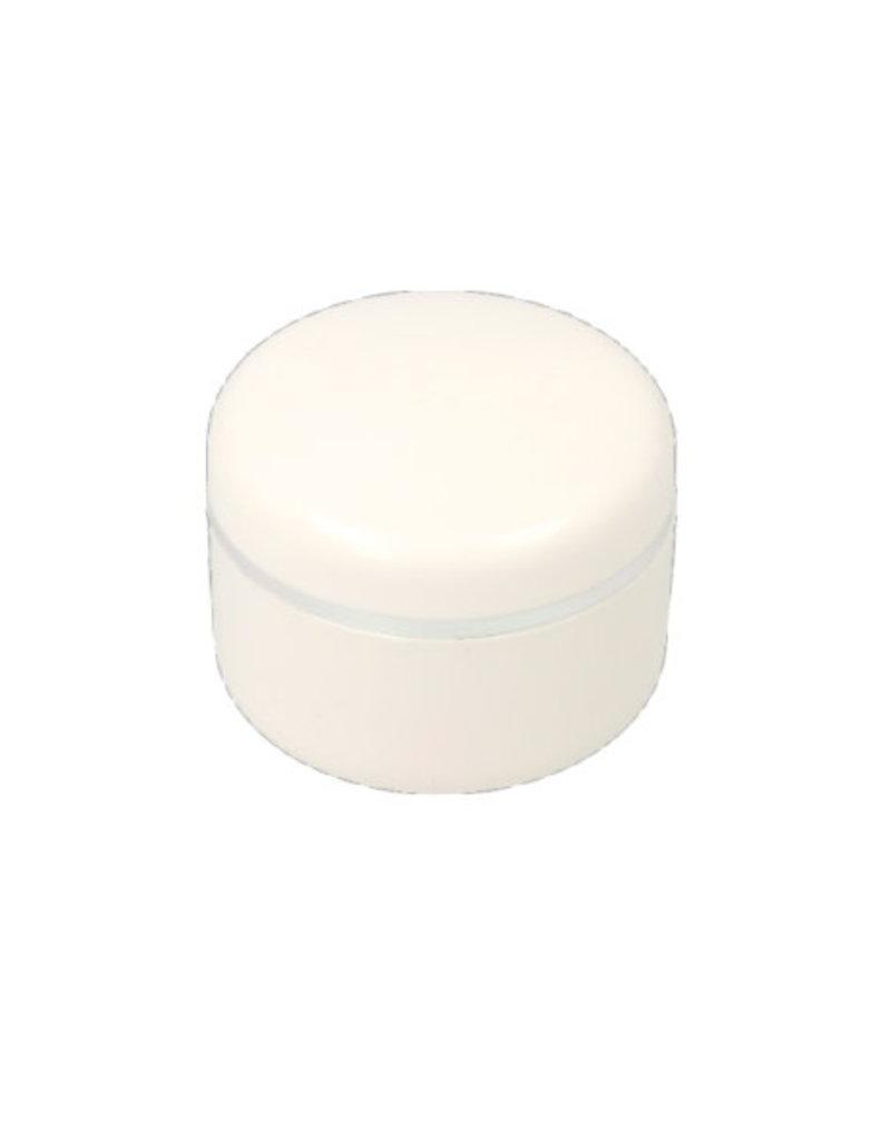 Leeg Potje Wit Zilveren Rand 5ML