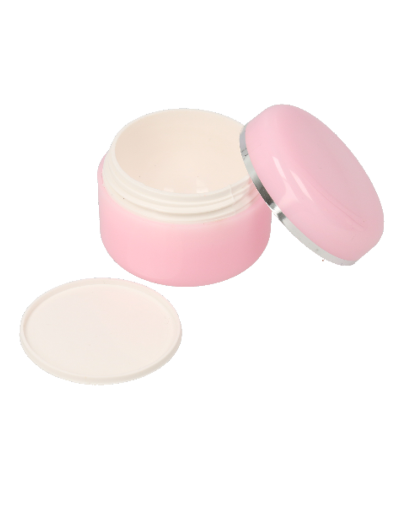 Empty Cream Jar Pink 15ML