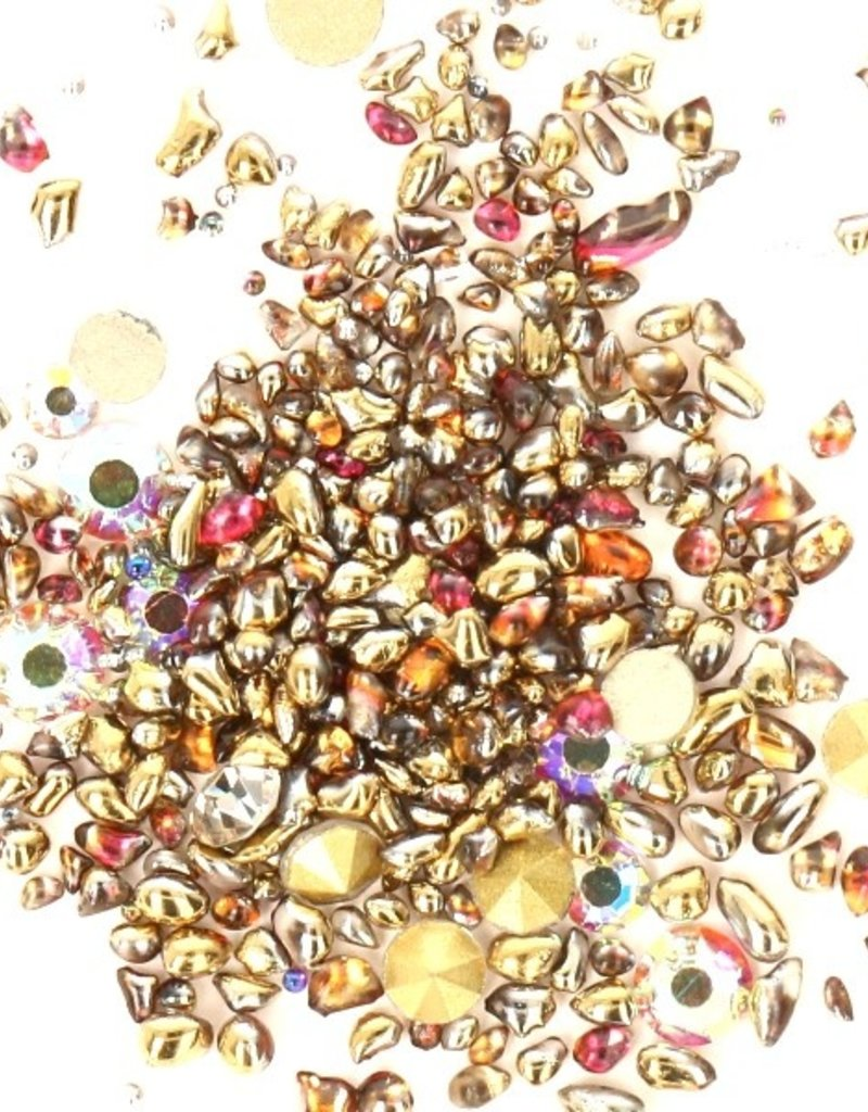 Crystal Mix Gold/Brown