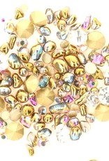 Crystal Mix Gold/purple