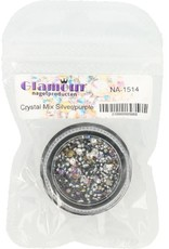 Crystal Mix Silver/Purple