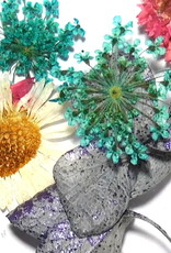 Dried Flowers Mix 3D Silver Flower