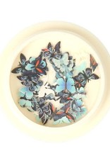 3D Butterfly Inlay Blue/Orange