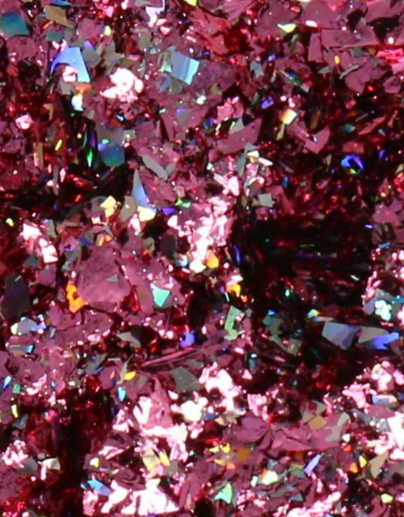 Galaxy Chrome Flakes Fuchsia