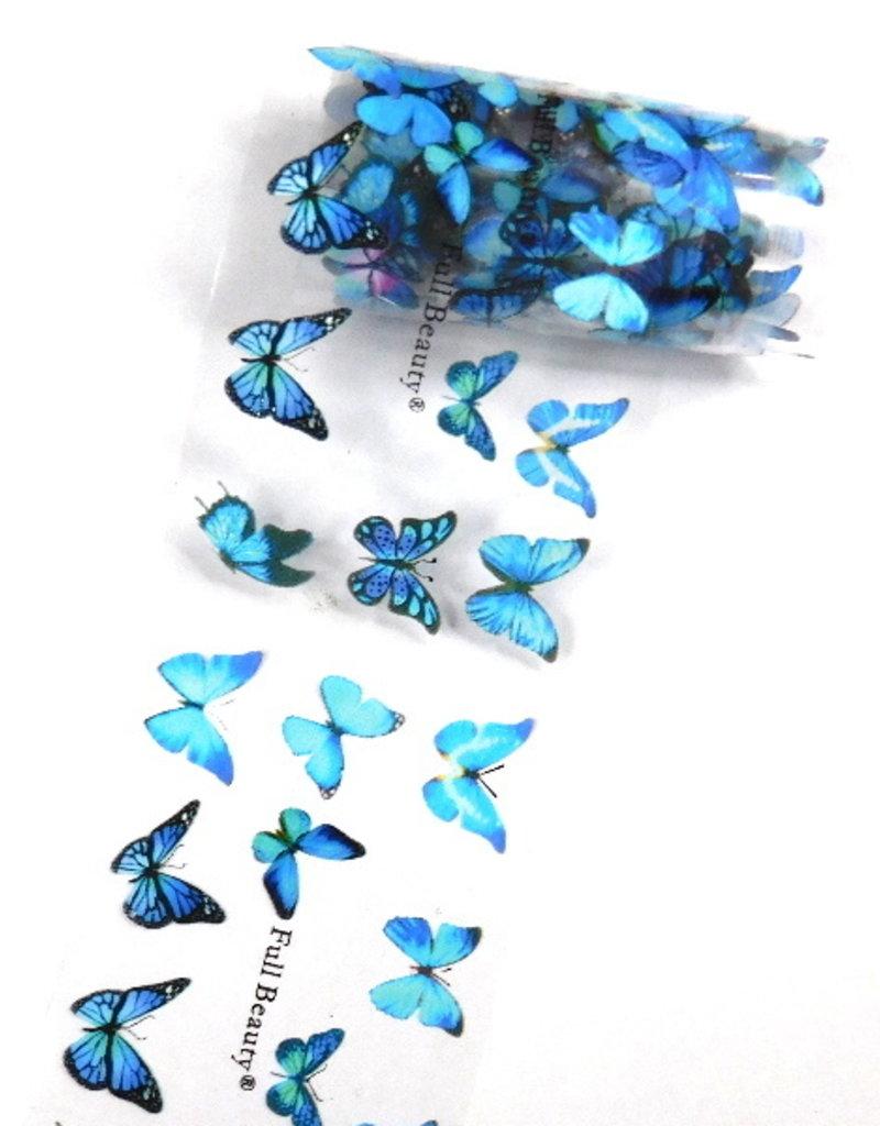Transfer Foil Blue Butterfly